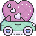 Valentine Car Wedding Car Car Icon