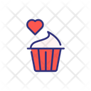 Valentine Cup Cake Cupcake Cup Cake Icon