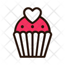 Valentine Cup Cake Icon