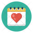 Date Valentine Love Icon