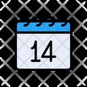 February Date Calendar Icon