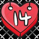 Event Schedule Plan Heart Calendar Icon