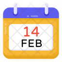 14 Feb Valentine Calendar Valentine Date Icon
