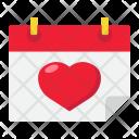 Date Calendar Heart Icon