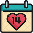 Calendar Valentine Th Icon