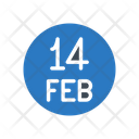 February Valentine Love Icon