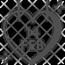M Valentines Day Icon