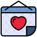 Post It Heart Love Icon