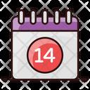 Valentine Calendar Event Calendar Party Reminder Icon