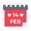Valentine Love Calendar Icon