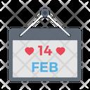 Valentine Date Calendar Icon