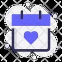 Calendar Valentine Love Icon