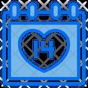 Heart Love Calendar Icon