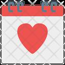 Valentine Day Calendars Calendar Icon