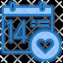 Valentine Day Calendar Day Icon