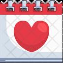 Valentine Day Valentine Calendar Icon