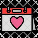 Valentine Day Day Calendar Icon