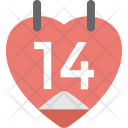 Valentine Day Calendar Icon