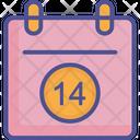 Valentine Day Calendar Loving Calendar Calendar Icon