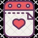 Valentine Day Calender Icon