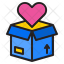 Valentine Delivery Box Icon