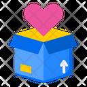 Valentine Delivery Box Delivery Box Box Icon