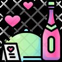 Valentine Dinner Romantic Dinner Dinner Icon