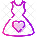 Valentine Day Heart Dress Icon