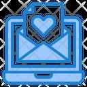 Valentine Email Valentine Invitation Laptop Icon