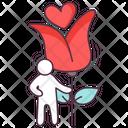 Valentine Flower Icon
