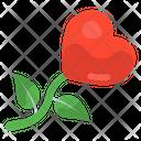 Valentine Flower Heart Flower Floral Heart Icon