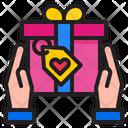 Valentine Gift Hand Gift Icon