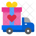 Valentine Gift Delivery Icon