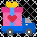 Valentine Gift Delivery Icon