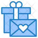 Valentine Gifts And Card Mail Gift Icon