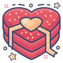 Valentine Heart Heart Gift Wrapped Heart Icon
