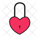 Valentine Heart Lock Heart Lock Love Lock Icon