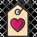 M Tag Valentine Label Valentine Tag Icon