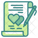 Valentine Letter Contract Romantic Icon