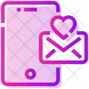 Valentine Day Phone Mail Icon
