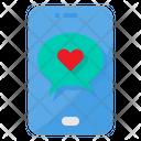 Love Smartphone Chat Bubble Icon