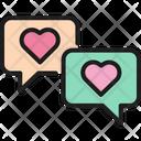 Message Bubble Heart Icon