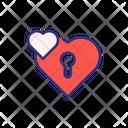 Valentine Padlock Lock Love Lock Icon