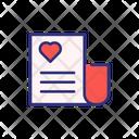 Valentine Paper Wedding Invitation Invitation Icon