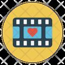 Reel Filmstrip Love Icon