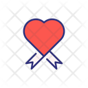 Valentine Ribbon Ribbon Heart Ribbon Icon
