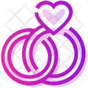 Valentine Day Heart Ring Icon