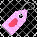 Valentine Sale Tag Icon