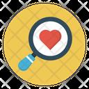Search Love Heart Icon