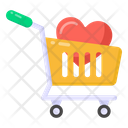 Love Shopping Valentine Shopping Love Trolley Icon